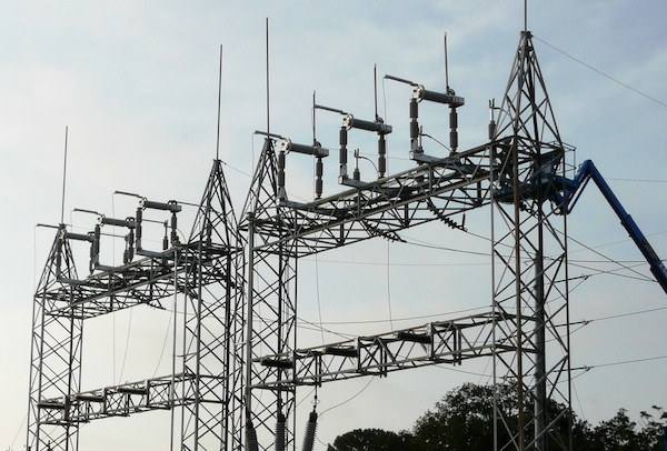 switcher and transformer towers