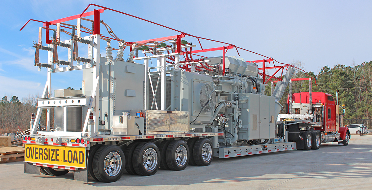 mobile substation on truck bed