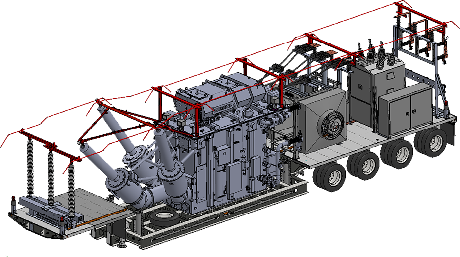 Rendering of mobile substation